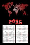 2015 calendar. 2015 new calendar vector illustration royalty free illustration
