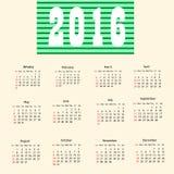 Calendar 2016. Stock Images