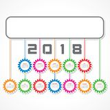 2018 Calendar for new year celebration Stock Photography