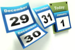 Calendar New Year countdown Royalty Free Stock Photo