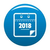 Calendar new year icon blue vector. Calendar new year icon vector blue circle isolated on white background Stock Photos