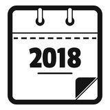 Calendar new year icon, simple black style. Calendar new year icon. Simple illustration of calendar new year vector icon for web Royalty Free Stock Images
