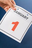 Calendar New Year's Day Stock Photography