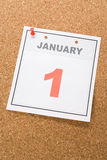 Calendar New Year's Day Stock Images