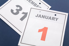 Calendar New Year's Day Stock Photos