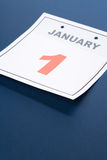 Calendar New Year's Day Royalty Free Stock Photo