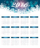 Calendar 2016 New Year. Vector Illustration Royalty Free Stock Photography