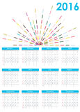 Calendar 2016 New Year. Vector Illustration. 2016 New Year Calendar Vector Illustration EPS10 Royalty Free Stock Image