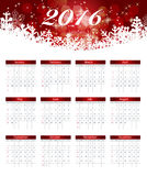 Calendar 2016 New Year. Vector Illustration. 2016 New Year Calendar Vector Illustration EPS10 Royalty Free Stock Images