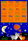Calendar  of next year Stock Image
