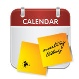Calendar note book Royalty Free Stock Photo