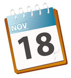 Calendar november. Calendar of november in vector mode Royalty Free Stock Photos