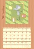 Calendar for November 2012.  royalty free illustration