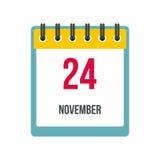 Calendar november 24 icon Royalty Free Stock Image