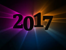 Calendar number 2017 Royalty Free Stock Photography