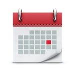 Calendar o ícone Fotografia de Stock