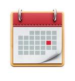 Calendar o ícone Fotos de Stock Royalty Free