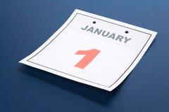 Calendar o dia de ano novo Fotografia de Stock Royalty Free