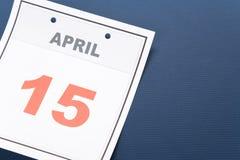 Calendar o dia do imposto Imagens de Stock Royalty Free