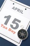 Calendar o dia do imposto Imagens de Stock