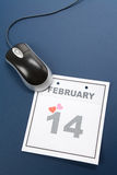 Calendar o dia do Valentim Fotos de Stock