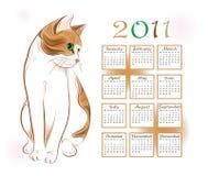 Calendar o projeto 2011 ilustração stock