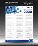 calendar 2020 o vertical da polegada do tamanho 6x8 do ano, começo domingo da semana, inseto do negócio, fundo alaranjado ilustração royalty free