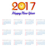 Calendar for 2017  object for design element  Royalty Free Stock Photography