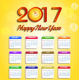 Calendar for 2017  object for design element  Stock Photos
