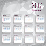 Calendar for 2017  object for design element vector Stock Images