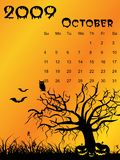 Calendar  for October Royalty Free Stock Images