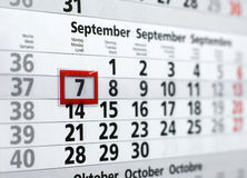 A calendar for the office. A weekly calendar for the office Stock Images