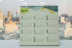 2019 calendar on office desk for business planning. Close up 2019 calendar on office desk for business planning royalty free stock images