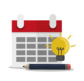 Calendar of office and work design Stock Photography