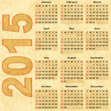 Calendar 2015. Old paper with Calendar 2015 (vector eps 10 royalty free illustration