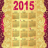 Calendar for 2015. In the old style with the stars (vector eps 10 Royalty Free Stock Image