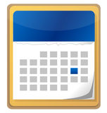 Calendar with one day selected Royalty Free Stock Photo
