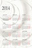 2014 Calendar. 2014 one page calendar on abstract background Stock Images