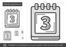 Calendar organizer line icon. Stock Photos
