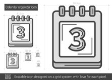 Calendar organizer line icon. Stock Images