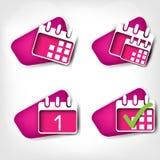Calendar organizer web icon Stock Image