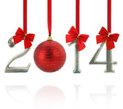 2014 new year ornaments royalty free stock photo