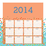 Calendar 2014. Over white background vector illustration Stock Images
