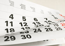 A calendar page Royalty Free Stock Photo