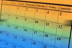 Calendar Page. Close up of Calendar Page Stock Image