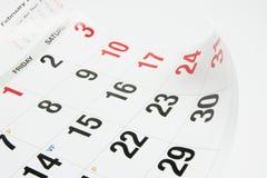 Calendar Page. Close Up of Calendar Page royalty free stock photos