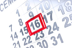 Calendar page. Close up on calendar page royalty free stock photo