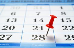 Calendar page Stock Images