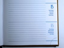Calendar page Royalty Free Stock Photos