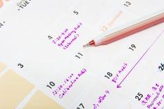 Calendar page Royalty Free Stock Photos